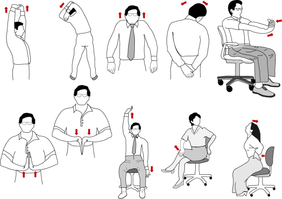 Imagini pentru exercitii stretching la birou